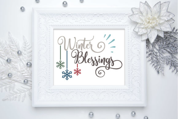 Winter Blessings Cut File Graphic By Oldmarketdesigns Creative Fabrica