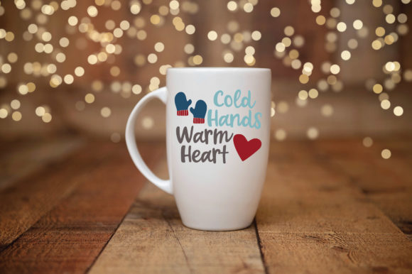 Print on Demand: Cold Hands Warm Heart SVG Cut File Graphic Crafts By oldmarketdesigns - Image 3