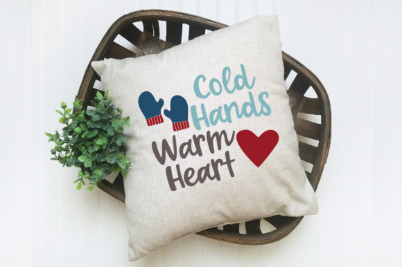 Print on Demand: Cold Hands Warm Heart SVG Cut File Graphic Crafts By oldmarketdesigns - Image 5