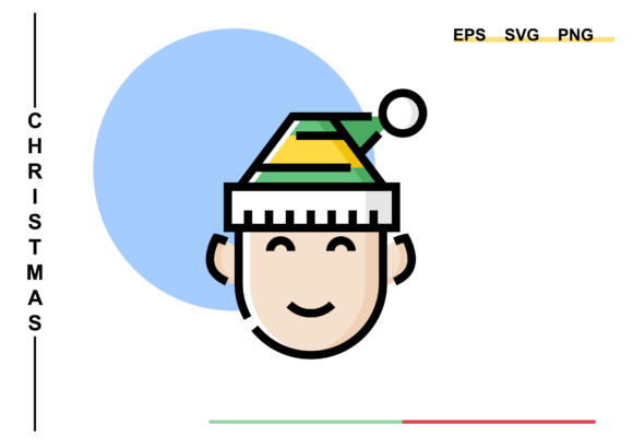 Smiling Christmas Elf Graphic
