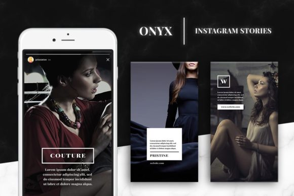 Print on Demand: Onyx Instagram Story Templates Graphic Websites By Ghosmod