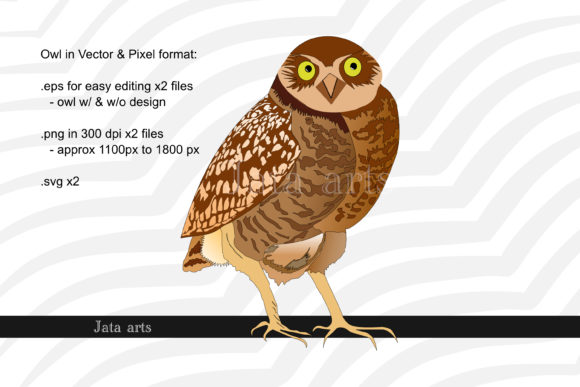 Download Free Owl Graphics In Vector Pixel Graphic By Jata Arts Creative for Cricut Explore, Silhouette and other cutting machines.