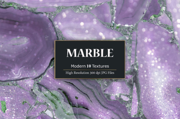 Print on Demand: Purple Marble Textures Graphic Textures By Creative Paper