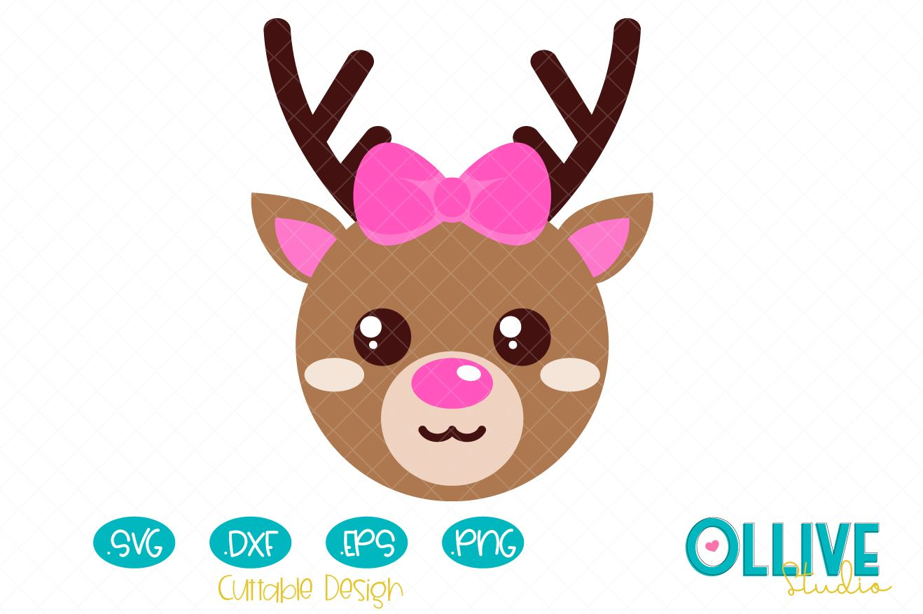 Download Free Christmas Cute Reindeer Girl Graphic By Ollivestudio Creative SVG Cut Files