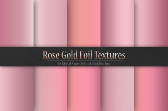 Rose Gold Foil Textures Graphic By artisssticcc