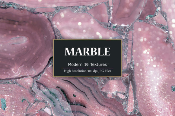 Print on Demand: Rose Marble Textures Graphic Textures By Creative Paper