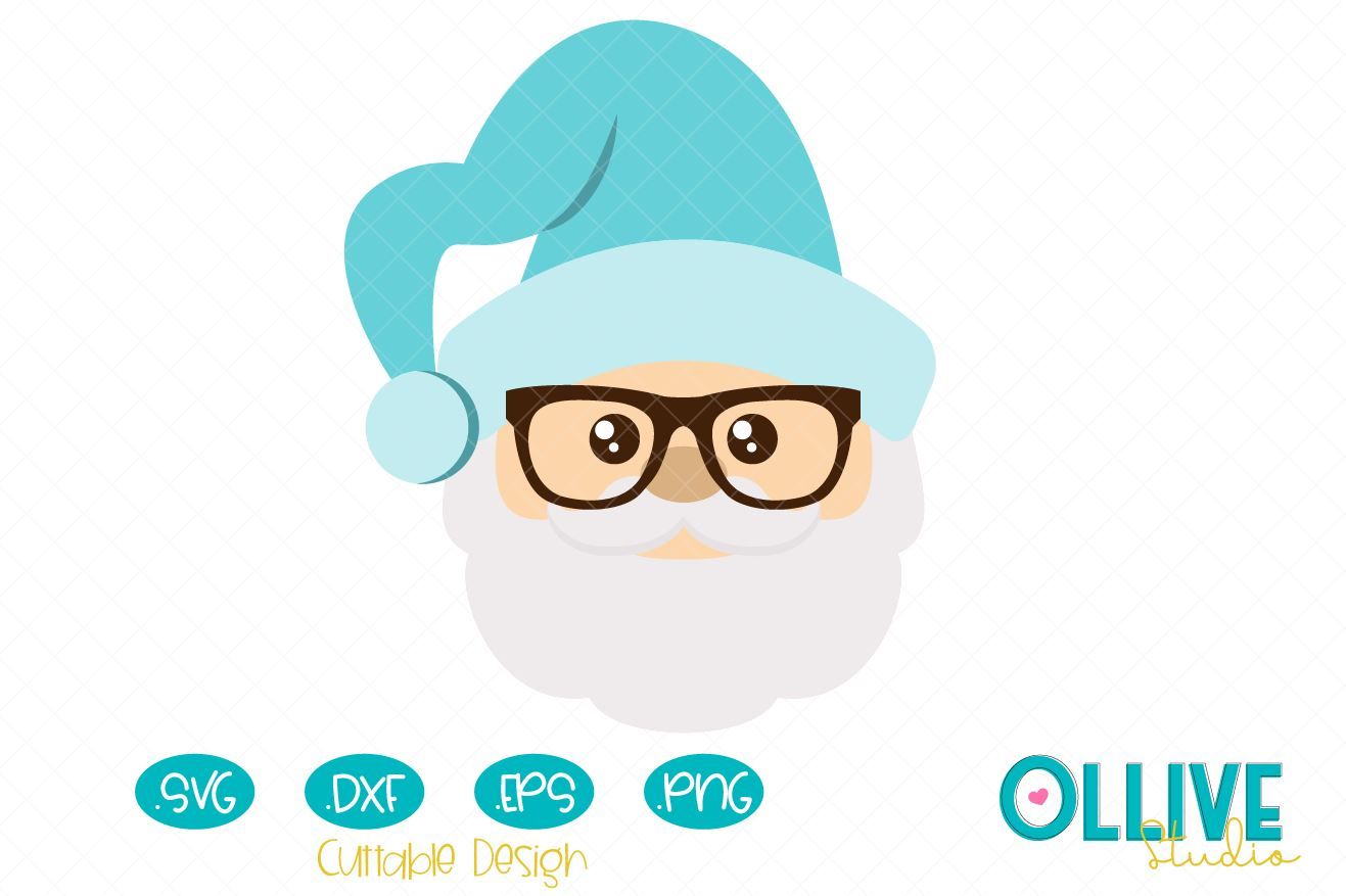 Download Free Christmas Santa Claus With Glasses Graphic By Ollivestudio for Cricut Explore, Silhouette and other cutting machines.