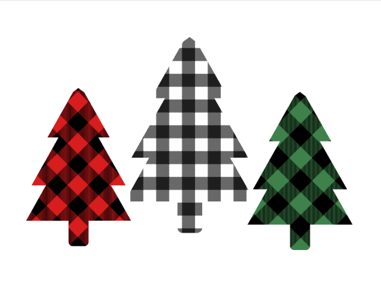 Download Free Buffalo Plaid Christmas Trees Svg Graphic By Thesmallhouseshop for Cricut Explore, Silhouette and other cutting machines.