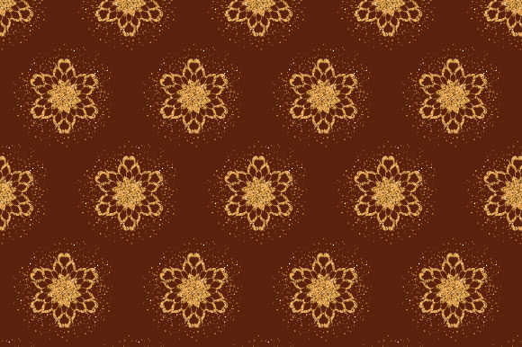 Download Free Christmas Snowflake Pattern Paper Gold Graphic By Graphics Farm for Cricut Explore, Silhouette and other cutting machines.