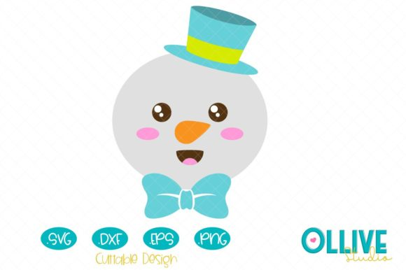 Christmas Snowman Graphic Crafts By ollivestudio