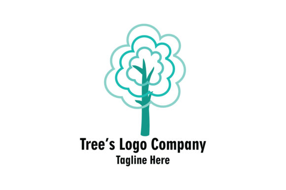 Download Free Trees Company Logo Vector Graphic By Yuhana Purwanti Creative Fabrica for Cricut Explore, Silhouette and other cutting machines.