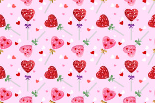 Download Free Heart Shape Lollipop Seamless Pattern Graphic By Ranger262 for Cricut Explore, Silhouette and other cutting machines.