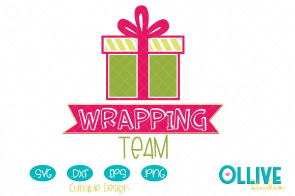 Christmas Wrapping Team Graphic