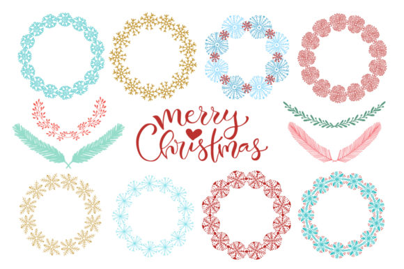 Christmas and New Year Frames Graphic Objects By worldion