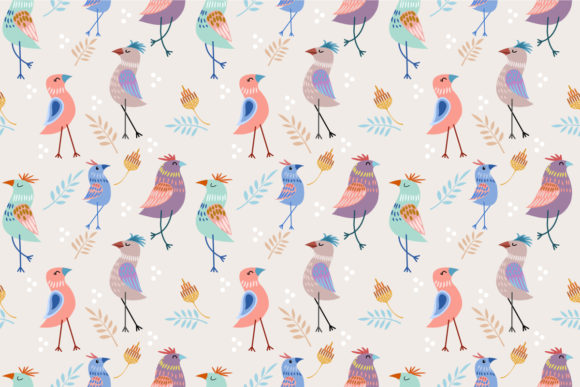 Download Free Cute Cartoon Bird Pattern Graphic By Ranger262 Creative Fabrica for Cricut Explore, Silhouette and other cutting machines.