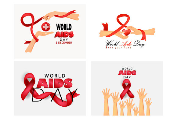 Print on Demand: Aids Awareness. World Aids Day Concept. Graphic Illustrations By iop_micro
