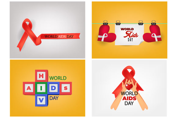 Print on Demand: Aids Awareness. World Aids Day Concept. Gráfico Ilustraciones Por iop_micro