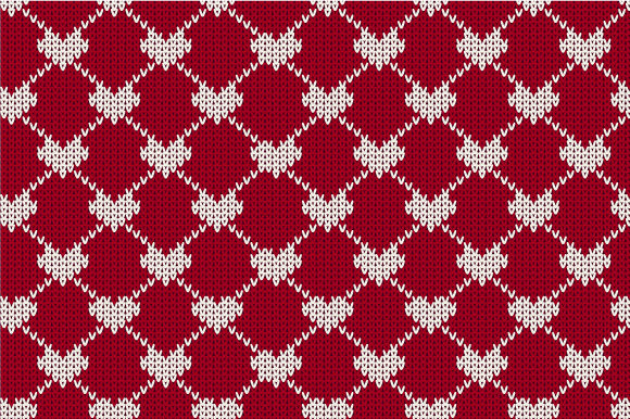 Print on Demand: Christmas Seamless Knitted Pattern Graphic Patterns By jannta