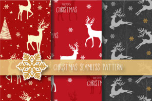 Download Free Christmas Seamless Pattern Reindeer Graphic By Jann Creative for Cricut Explore, Silhouette and other cutting machines.