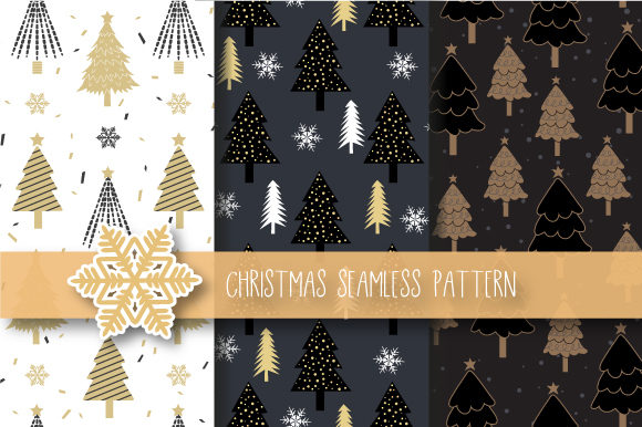 Christmas Tree Seamless Pattern Graphic By JANNTA