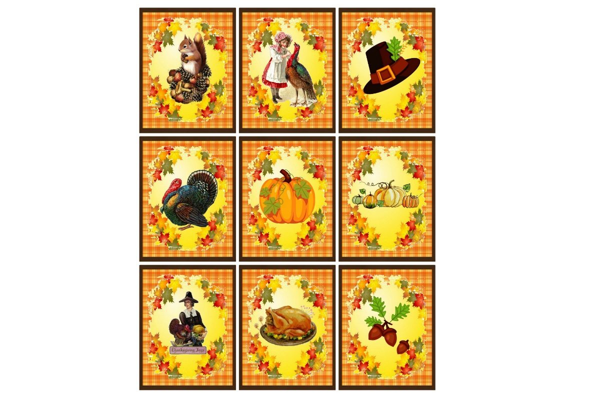 Download Free Printable Vintage Thanksgiving Fall Tags Graphic By Scrapbook for Cricut Explore, Silhouette and other cutting machines.