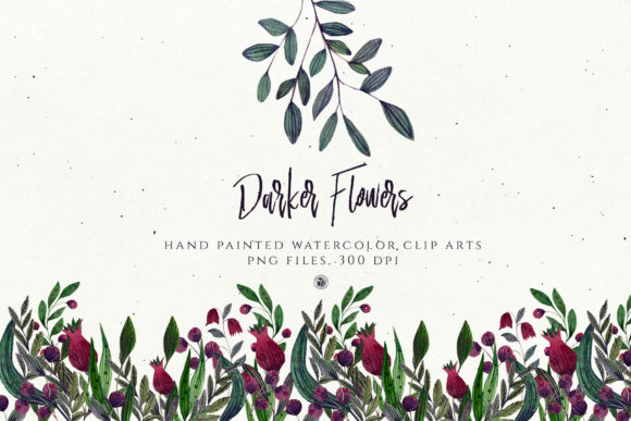 Print on Demand: Darker Flowers Graphic Illustrations By webvilla