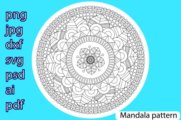 Print on Demand: Mandala Pattern Grafik Illustrationen von Ana Carmen Modrego Lacal