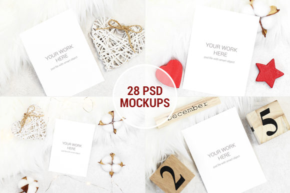 Print on Demand: Mockup Pack 28 PSD with Smart Objects Graphic Product Mockups By PawStudio