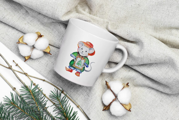 Print on Demand: Christmas Watercolor Characters Set Graphic Illustrations By PawStudio - Image 10