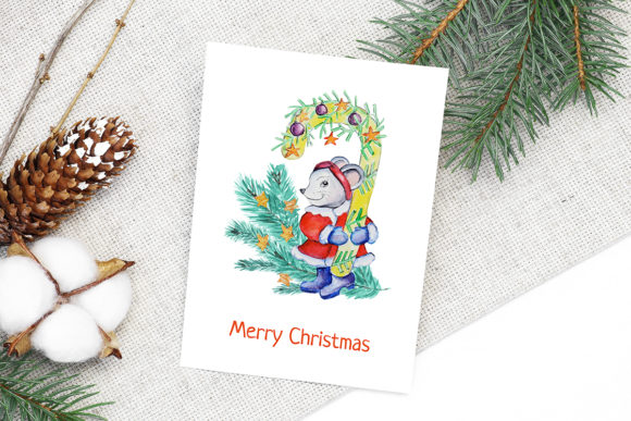 Print on Demand: Christmas Watercolor Characters Set Graphic Illustrations By PawStudio - Image 2