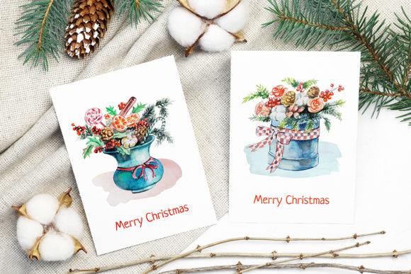Print on Demand: Christmas Watercolor Food Decoration Graphic Illustrations By PawStudio - Image 2