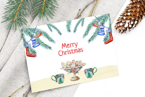 Print on Demand: Christmas Watercolor Food Decoration Graphic Illustrations By PawStudio - Image 3