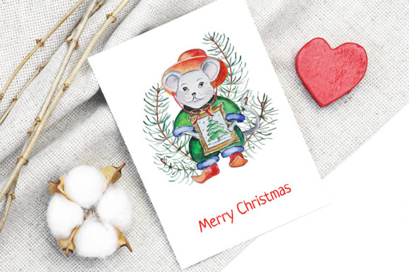 Print on Demand: Christmas Watercolor Characters Set Graphic Illustrations By PawStudio - Image 3