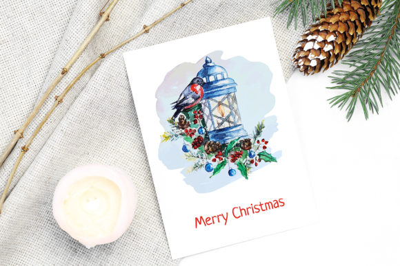 Print on Demand: Christmas Watercolor Characters Set Graphic Illustrations By PawStudio - Image 5