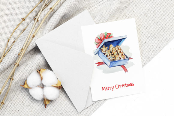 Print on Demand: Christmas Watercolor Food Decoration Graphic Illustrations By PawStudio - Image 5