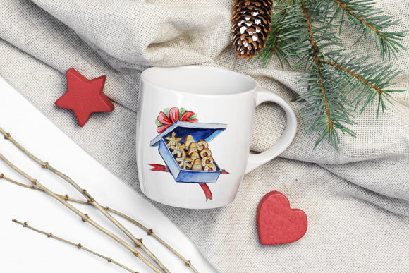 Print on Demand: Christmas Watercolor Food Decoration Graphic Illustrations By PawStudio - Image 7