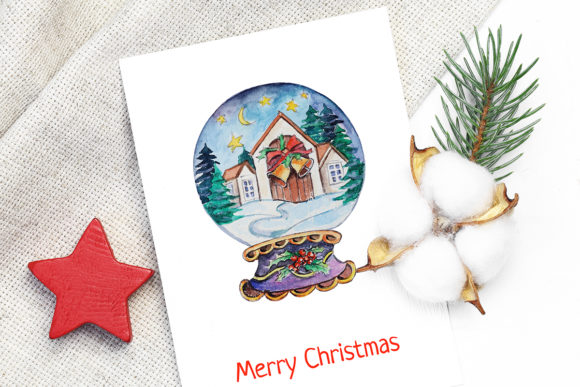 Print on Demand: Christmas Watercolor Characters Set Graphic Illustrations By PawStudio - Image 9