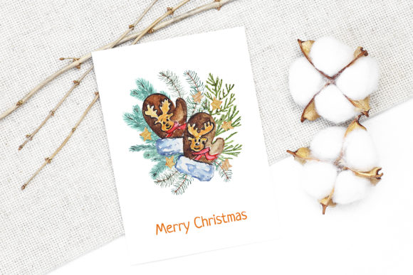 Print on Demand: Christmas Watercolor Characters Set Graphic Illustrations By PawStudio - Image 7