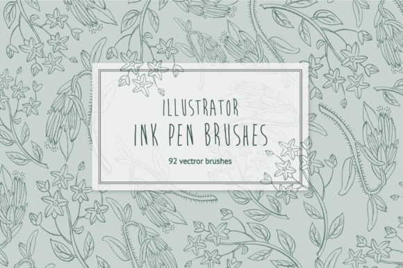 92 HandDrawn Ink Illustrator Brushes Graphic Brushes By bumkatrin