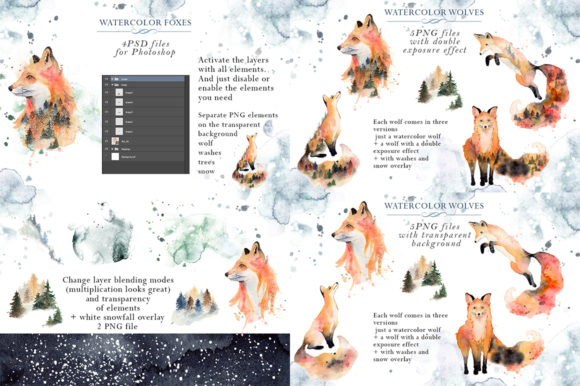 Woodland Story Vol.2 Foxes Graphic Illustrations By EvgeniiasArt - Image 2