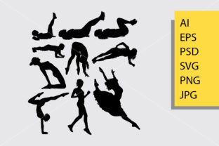 Download Free Pilates Sport 1 Silhouette Graphic By Cove703 Creative Fabrica for Cricut Explore, Silhouette and other cutting machines.