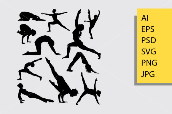 Pilates Sport 2 Silhouette Graphic Illustrations By Cove703