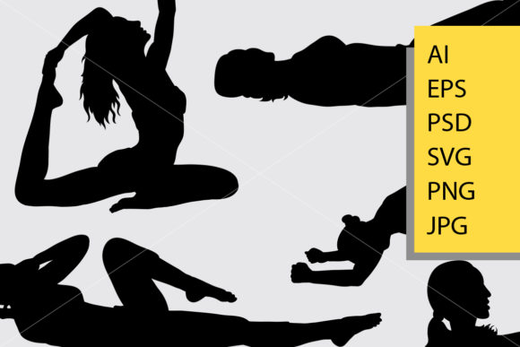 Pilates Sport 5 Silhouette Graphic Illustrations By Cove703 - Image 2