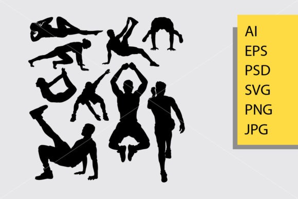 Pilates Sport 6 Silhouette Graphic Illustrations By Cove703