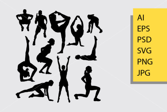 Pilates Sport 7 Silhouette Graphic Illustrations By Cove703