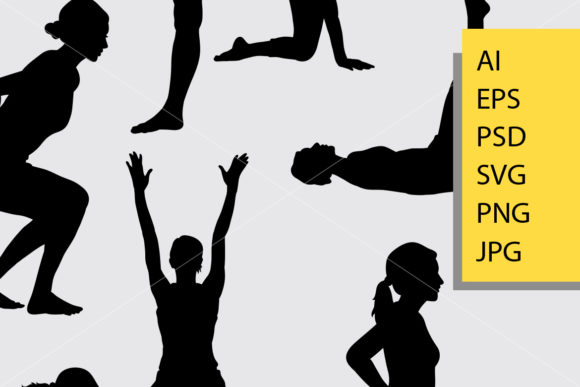 Pilates Sport 7 Silhouette Graphic Illustrations By Cove703 - Image 2