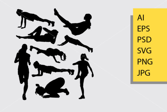 Pilates Sport 8 Silhouette Graphic Illustrations By Cove703