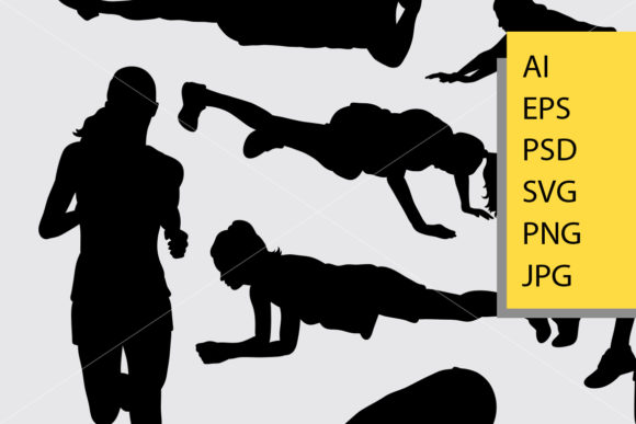 Pilates Sport 8 Silhouette Graphic Illustrations By Cove703 - Image 2