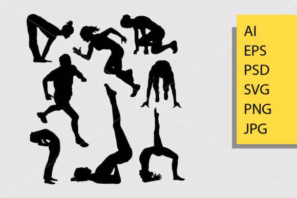 Workout 1 Sport Silhouette Graphic Illustrations By Cove703 - Image 1