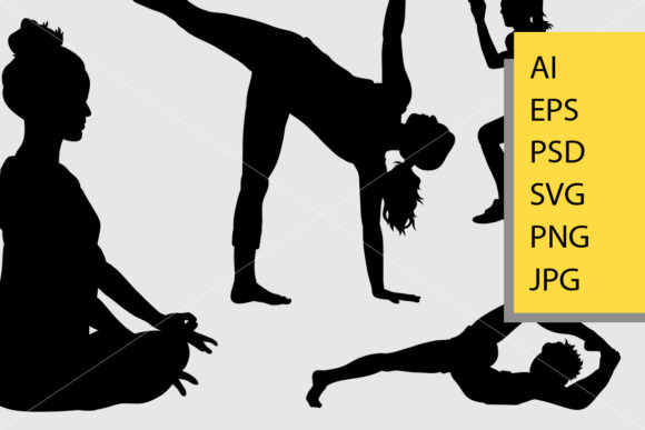 Workout 2 Sport Silhouette Graphic Illustrations By Cove703 - Image 2